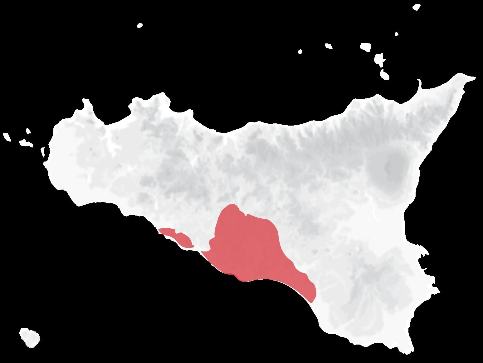Mappa vitigni Nero d'Avola