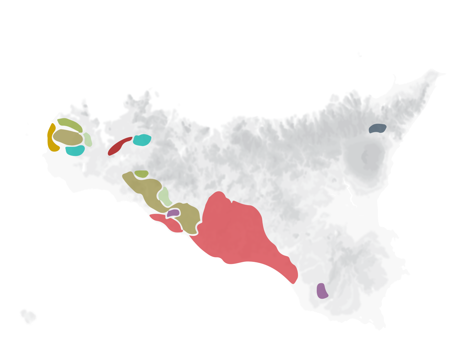 Grape varieties map